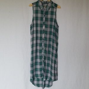 THE LAUNDRY ROOM PLAID SHIRT DRESS Large